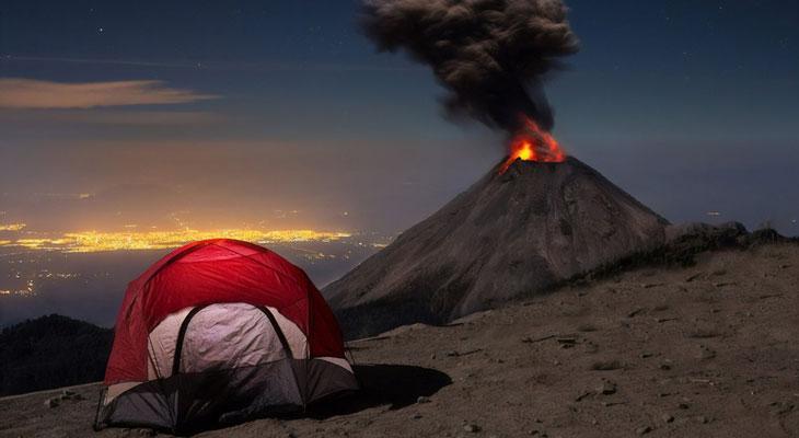 El-volcan-de-Colima,-Mexico