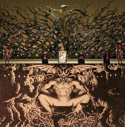 El trono del Vaticano al que consideran un monumento satánico - 2