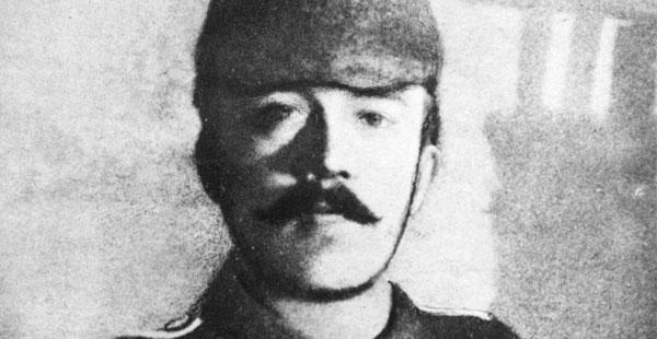 Imagen de un joven Hitler que combatió como cabo en el ejército alemán.