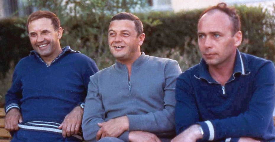 Fotografía de los tripulantes de la misión Soyuz XI, hallados muertos tras su aterrizaje.