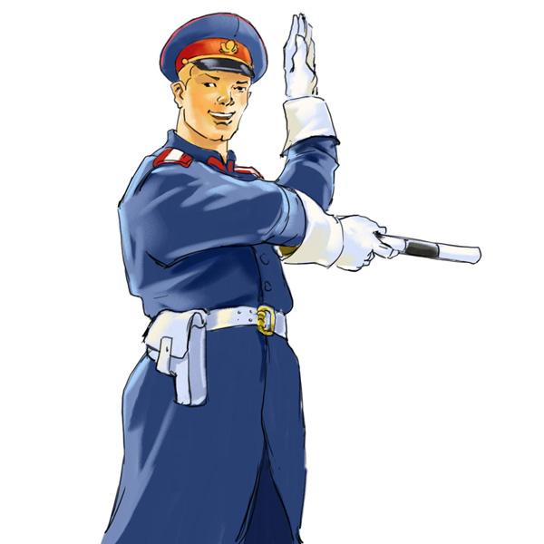 Ilustración del héroe de historietas soviéticas Tío Stiopa.
