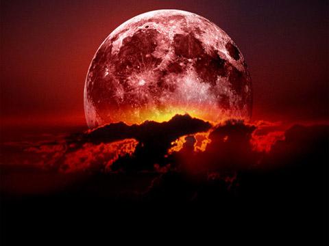 Gigantesca Luna roja durante el eclipse de la madrugada - Taringa!