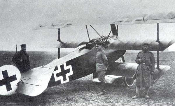 Imagen de un avión de guerra alemán.