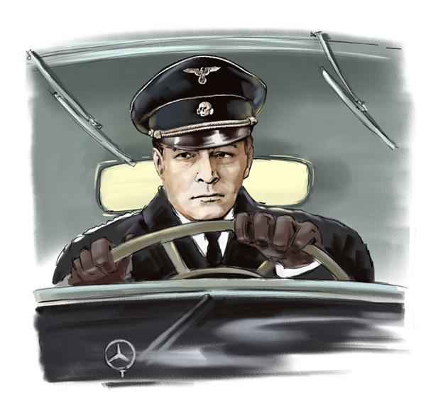 Ilustración del héroe de historietas soviéticas Stirlitz.