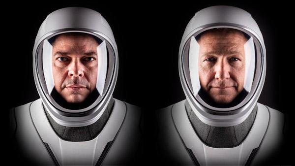 A la izquierda: Bob Behnken, a la derecha: Doug Hurley.