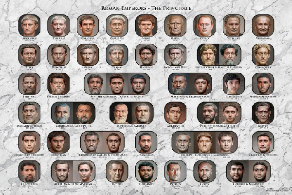 Inteligencia Artificial: así era el rostro de los emperadores romanos - 1