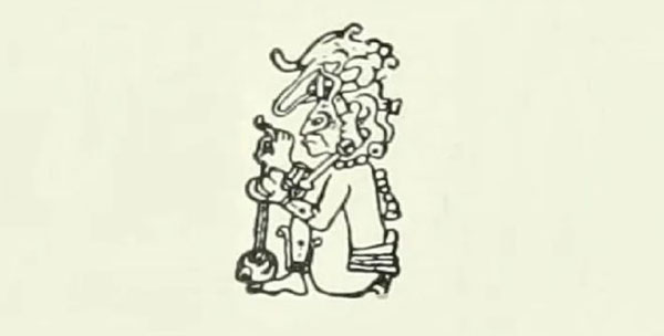 Imagen ilustrativa del dios maya Buluc Chabtan.