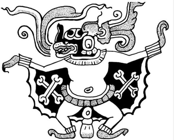 Imagen ilustrativa del dios maya Camazotz.