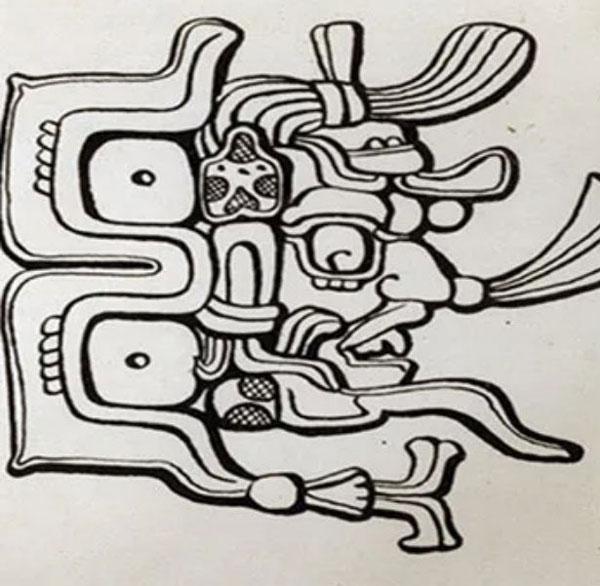 Imagen ilustrativa del dios maya Chac Bolay.