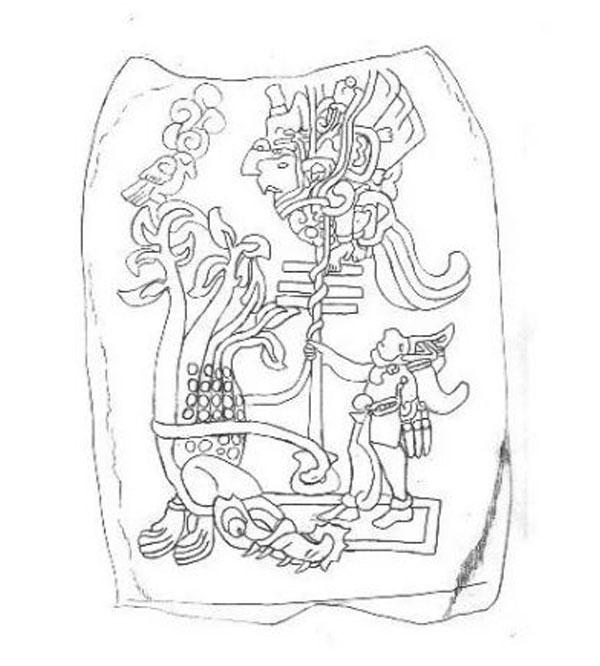 Imagen ilustrativa del dios maya Zipacna.
