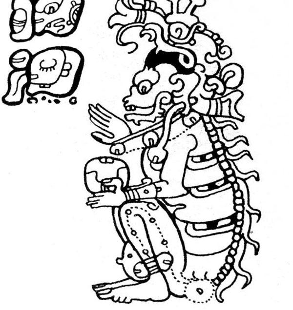 Imagen ilustrativa del dios maya Yum Kimil.