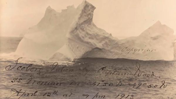 Fotografía del iceberg.
