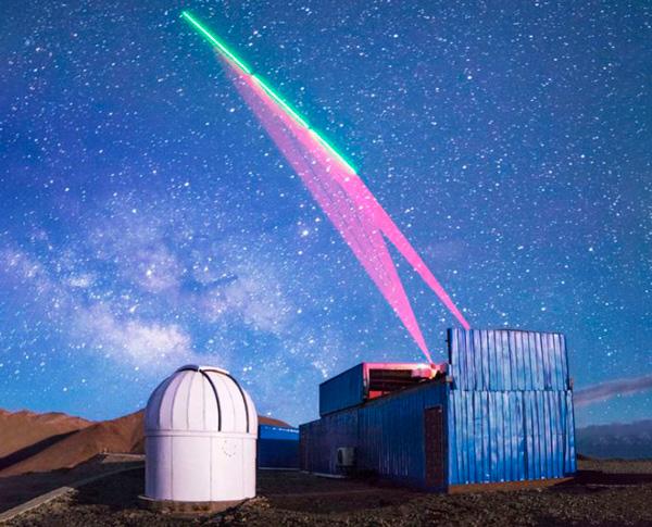 Una estación terrestre china se comunica con el satélite de comunicación cuántica 'Micius'.J.-W.