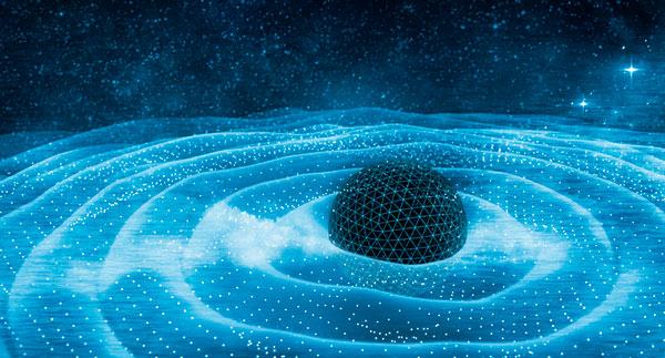 Ondas de gravitación alrededor del agujero negro.