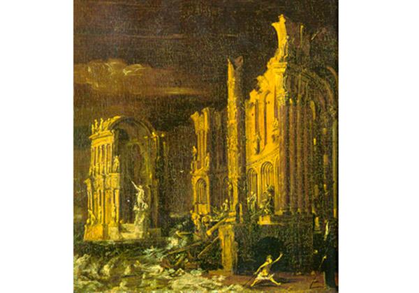 La caída de la Atlántida, pintura de François de Nomé