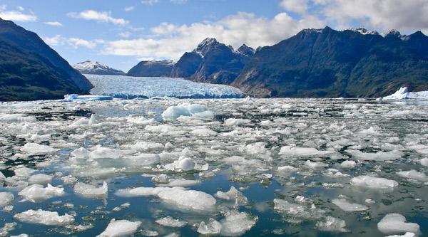 Hielo derretido en el Ártico.