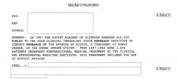 Documento da CIA detalha experimentos soviéticos de percepção extrassensorial - 1
