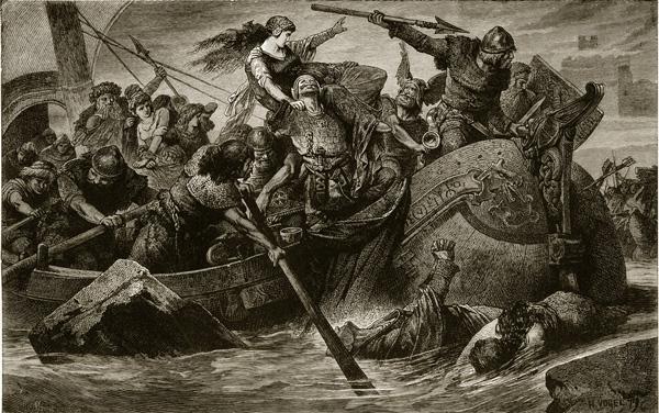 Illustración de Vikingos.