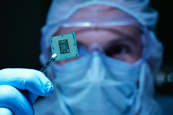 Chip con neuronas artificiales.