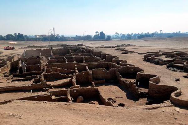 Imagen de la ciudad encontrada cerca de Luxor.