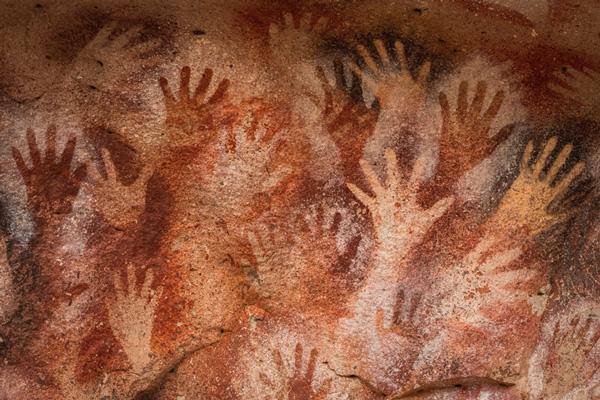 Pinturas a mano del Neolítico.