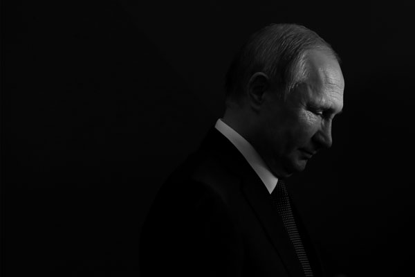 Imagen del presidente ruso Vladímir Putin de perfil