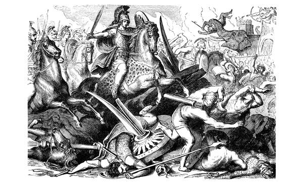 Alejandro Magno en batalla,