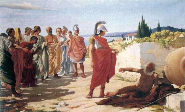 Diógenes y Alejandro.