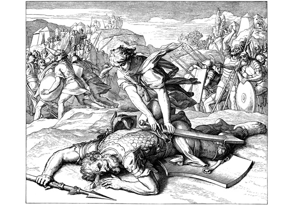 David y Goliath.