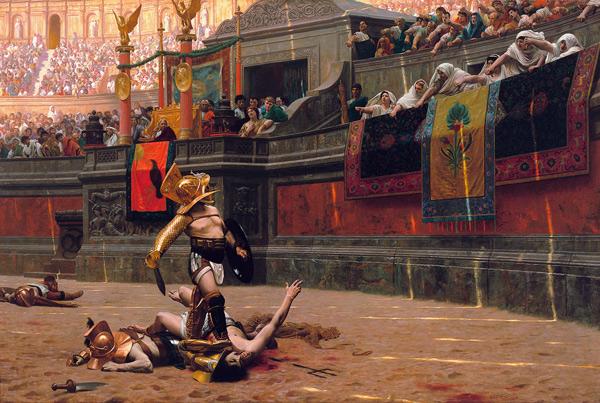 Durante su reinado, Cómodo ofreció ostentosos espectáculos al pueblo romano.