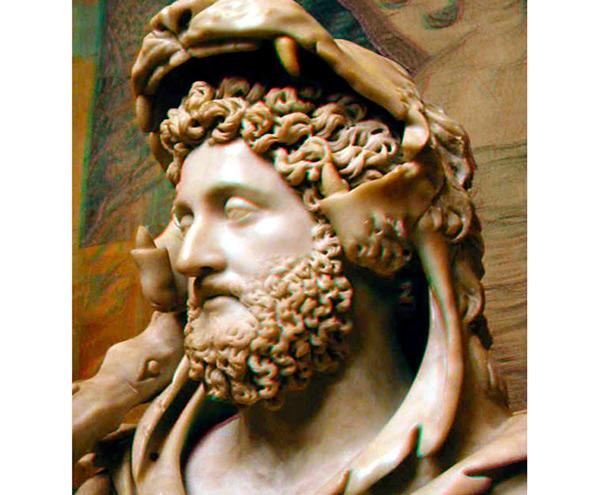 Busto de Cómodo en los Museos Capitolinos.