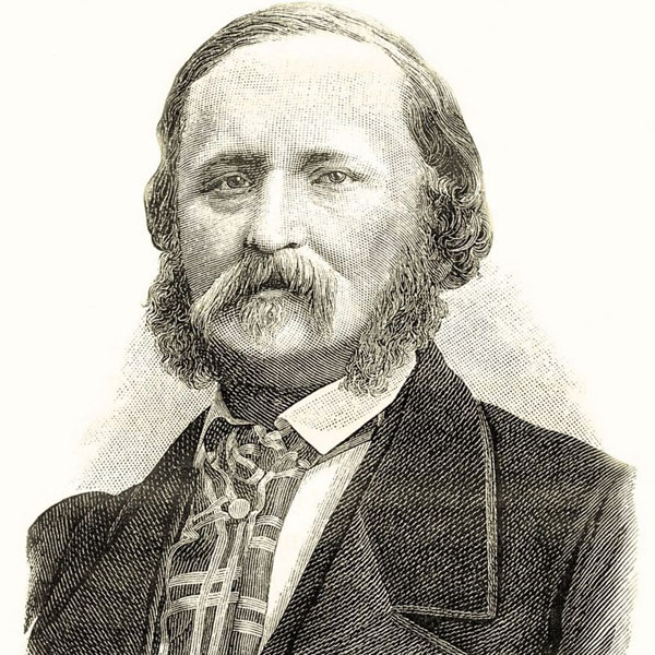 Retrato dibujado de Edouard-Leon Scott Martinvillede
