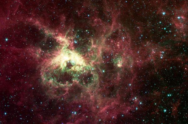 Fotografía astronómica de Tarántula, la nebulosa más grande.