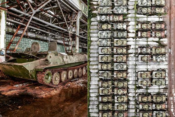 Descoberta base soviética abandonada, com mais de mil tanques, aviões e helicópteros - 1