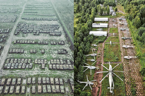 Descoberta base soviética abandonada, com mais de mil tanques, aviões e helicópteros - 2