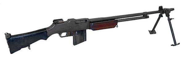 Imagen de un fusil automático Browning (Browning Automatic Rifle)