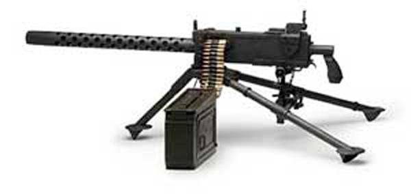 Imagen de una ametralladora Browning M1919 (Machine Gun 30 H.B. M1919A4).