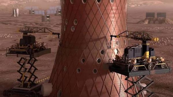 Primeras estructuras arquitectónicas contruidas en Marte