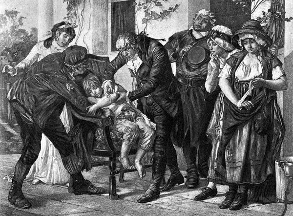 Edward Jenner Administrando la primera vacuna.