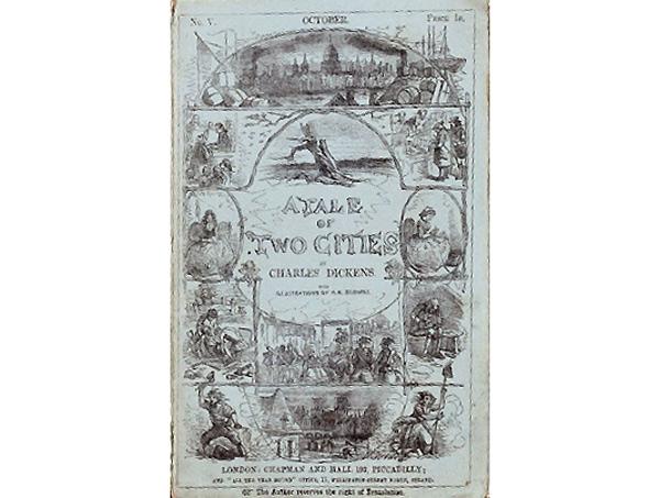 Portada del libro Historia de dos ciudades.