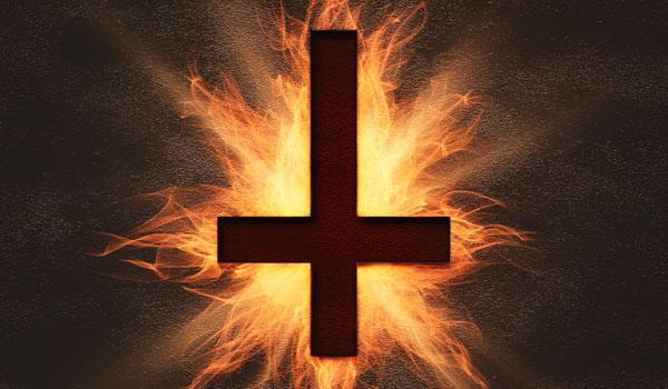 Imagen ilustrativa de una cruz invertida.