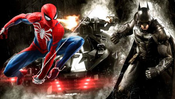 Escena con Spiderman y Batman.