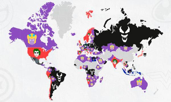 Mapa de los Villanos favoritos.