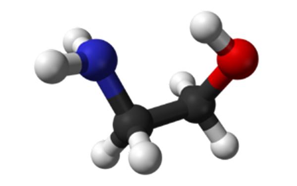 Molécula Etanolamina.