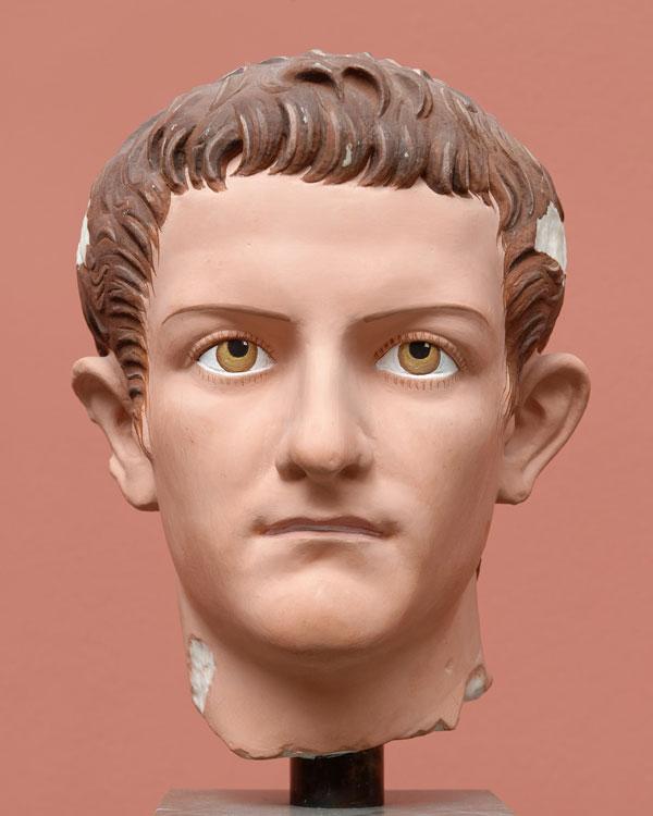 Réplica de un busto del emperador Calígula