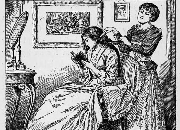 Ilustración de Kenneth Mathiason Skeaping (1857-1947) para The Holiday Prize.