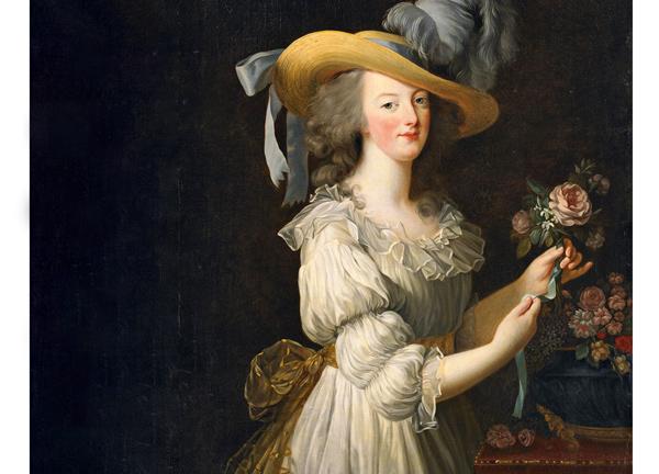 María Antonieta en traje de muselina (retrato de 1783).