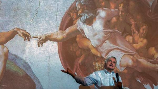 Detalle del fresco La Creación, de Miguel Ángel