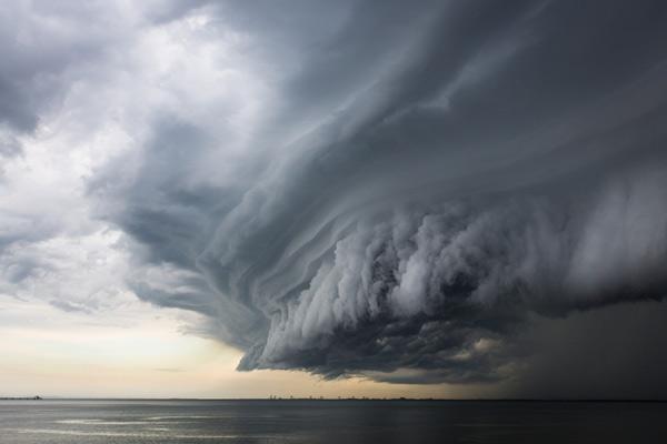 Super de nube de tormenta.