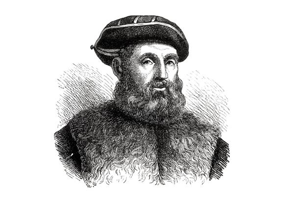 Grabado de Fernando de magallanes de 1873.